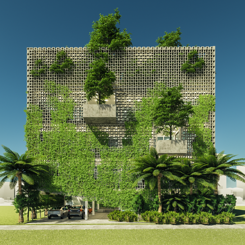 Green Honeycomb House